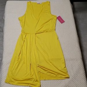 Yellow asymmetrical dress